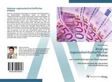 Buchcover von Analyse regionalwirtschaftlicher Effekte