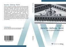 Buchcover von Sprache - Geltung - Recht