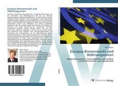 Capa do livro de Europas Binnenmarkt und Währungsunion