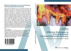 Bookcover of Effective Strategies to Ensure Business Continuity/Disaster Recovery