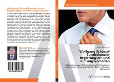 Bookcover of Wolfgang Schüssel Bundeskanzler Regierungsstil und Führungsverhalten