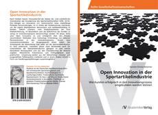 Bookcover of Open Innovation in der Sportartikelindustrie