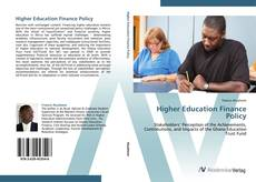 Portada del libro de Higher Education Finance Policy