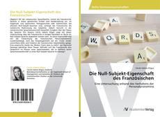 Capa do livro de Die Null-Subjekt-Eigenschaft des Französischen