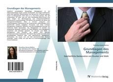 Copertina di Grundlagen des Managements