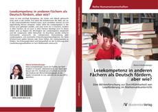 Buchcover von Lesekompetenz in anderen Fächern als Deutsch fördern, aber wie?