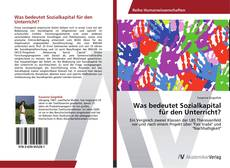 Обложка Was bedeutet Sozialkapital für den Unterricht?