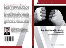 Bookcover of Zur Sozialgeschichte des Boxsports
