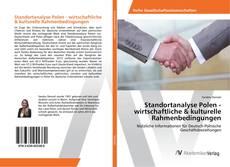 Bookcover of Standortanalyse Polen - wirtschaftliche & kulturelle Rahmenbedingungen
