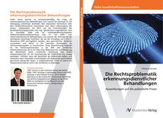 Capa do livro de Die Rechtsproblematik erkennungsdienstlicher Behandlungen