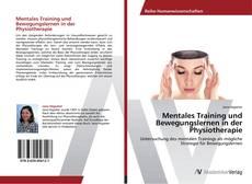Обложка Mentales Training und Bewegungslernen in der Physiotherapie