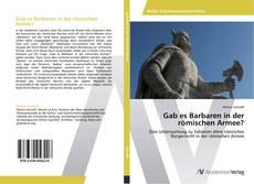 Borítókép a  Gab es Barbaren in der römischen Armee? - hoz