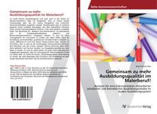Buchcover von Gemeinsam zu mehr Ausbildungsqualität im Malerberuf!