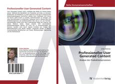 Bookcover of Professioneller User Generated Content