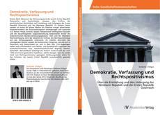 Demokratie, Verfassung und Rechtspositivismus kitap kapağı