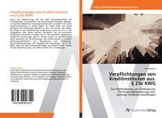 Bookcover of Verpflichtungen von Kreditinstituten aus § 25c KWG