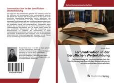 Bookcover of Lernmotivation in der beruflichen Weiterbildung