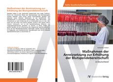 Bookcover of Maßnahmen der Anreizsetzung zur Erhöhung der Blutspendebereitschaft