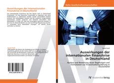 Borítókép a  Auswirkungen der internationalen Finanzkrise in Deutschland - hoz