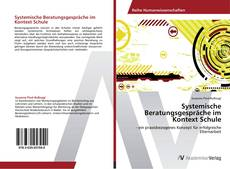 Portada del libro de Systemische Beratungsgespräche im Kontext Schule