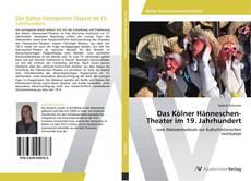 Bookcover of Das Kölner Hänneschen-Theater im 19. Jahrhundert