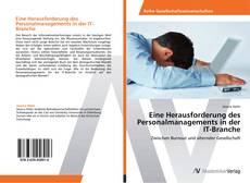 Capa do livro de Eine Herausforderung des Personalmanagements in der IT-Branche