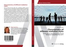 Capa do livro de Characteristics of different mediation styles