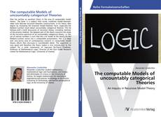 Capa do livro de The computable Models of uncountably categorical Theories