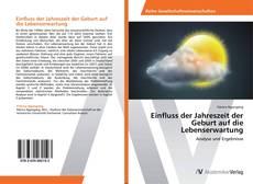 Buchcover von Einfluss der Jahreszeit der Geburt auf die Lebenserwartung