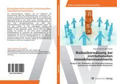 Bookcover of Risikoüberwälzung bei institutionellen Immobilieninvestments