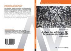 Buchcover von Analyse der polnischen EU-Ratspräsidentschaft 2011