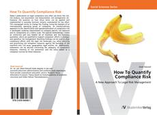 Bookcover of How To Quantify  Compliance Risk