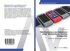 Copertina di Mechanismus zur Adaption einer Webseite an mobile Endgeräte