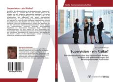 Bookcover of Supervision - ein Risiko?