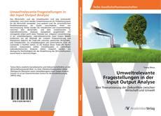 Umweltrelevante Fragestellungen in der Input Output Analyse kitap kapağı