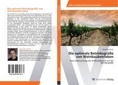 Bookcover of Die optimale Betriebsgröße von Weinbaubetrieben