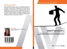 Bookcover of DGUV Vorschrift 2