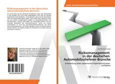 Capa do livro de Risikomanagement in der deutschen Automobilzulieferer-Branche