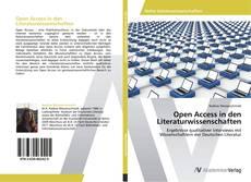 Bookcover of Open Access in den Literaturwissenschaften