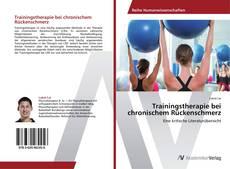 Buchcover von Trainingstherapie bei chronischem Rückenschmerz