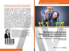 Buchcover von Motivation und variable Vergütung bei kommunalen Wohnungsunternehmen