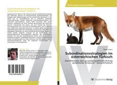 Capa do livro de Subordinationsstrategien im österreichischen Türkisch