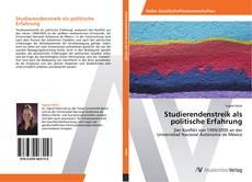 Buchcover von Studierendenstreik als politische Erfahrung
