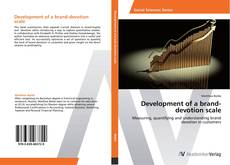 Capa do livro de Development of a brand-devotion scale