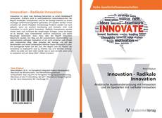 Bookcover of Innovation - Radikale Innovation