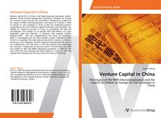 Bookcover of Venture Capital in China