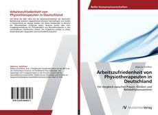 Buchcover von Arbeitszufriedenheit von Physiotherapeuten in Deutschland