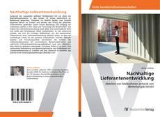 Portada del libro de Nachhaltige Lieferantenentwicklung