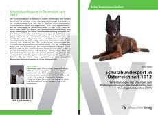Bookcover of Schutzhundesport in Österreich seit 1912