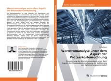 Copertina di Wertstromanalyse unter dem Aspekt der Prozesskostenrechnung